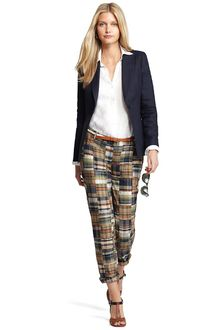Brooks Brothers Cotton Madras Plaid Pants - Lyst