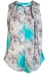 Carven Fur Print Top in Gray (grey) - Lyst