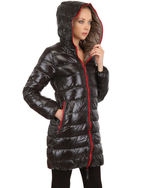 Duvetica Ace Shiny Nylon Down Jacket in Black | Lyst