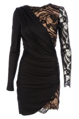 Emilio Pucci Asymmetric Dress in Black - Lyst