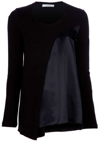 Givenchy Cut Away Top in Black - Lyst