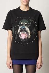 Givenchy Rottweiler Print Sweater in Black - Lyst