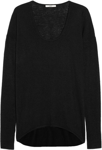 Helmut Lang Ribbedsleeve Knitted Sweater in Black - Lyst