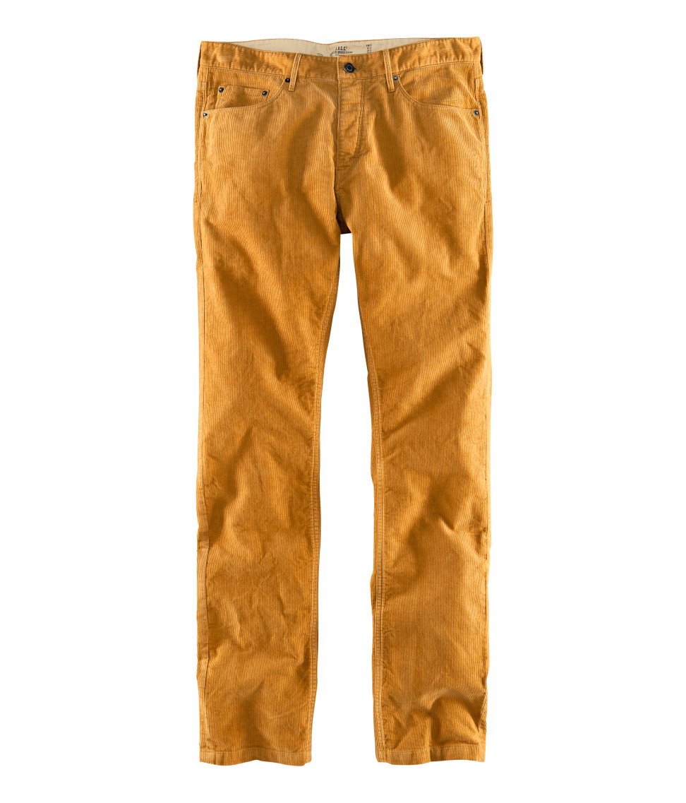 lyst h m corduroy trousers in yellow for men. Black Bedroom Furniture Sets. Home Design Ideas