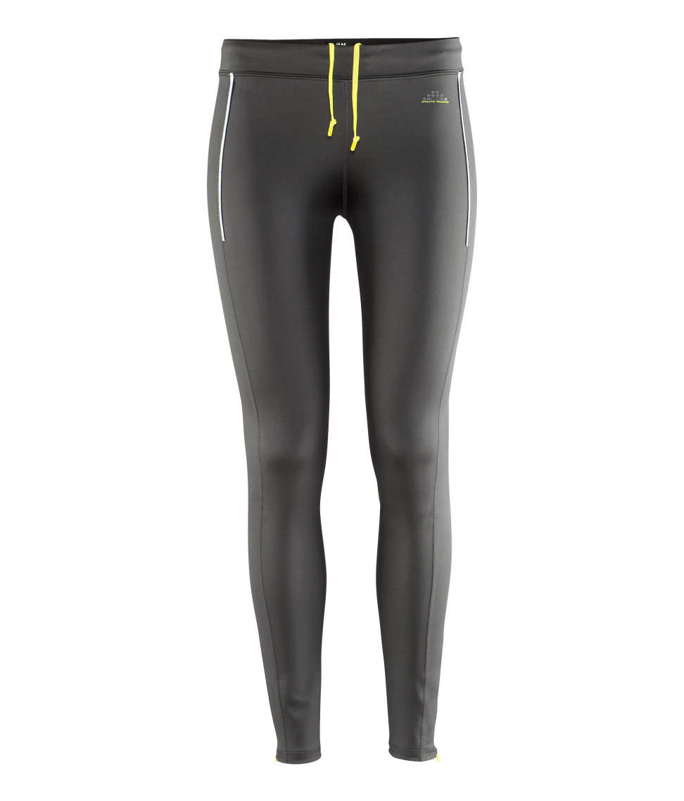 h m sports leggings in gray grey lyst. Black Bedroom Furniture Sets. Home Design Ideas