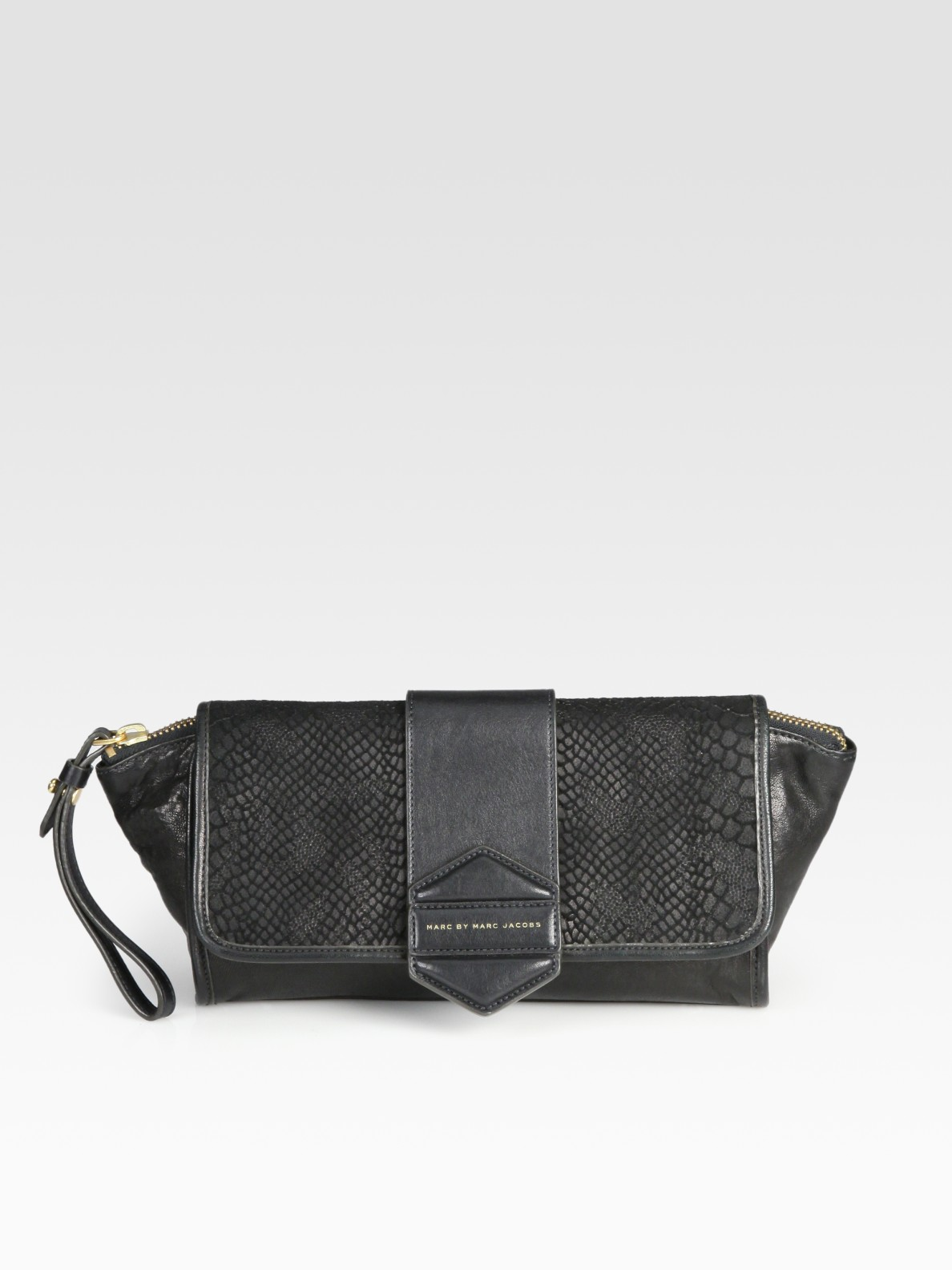 994769249807 Lyst - Marc By Marc Jacobs Flipping Out Leather and Suede Clutch in ...