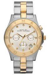 Marc By Marc Jacobs Womens Chronograph Two Tone Stainless Steel Bracelet 40mm - Lyst