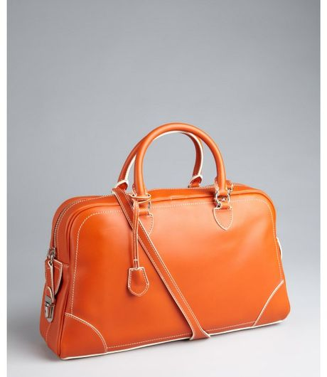 Marc Jacobs  Leather Venetia Push Lock Satchel in Orange - Lyst