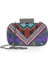 Matthew Williamson Printed Silk Box Clutch - Lyst