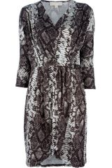 Michael by Michael Kors Snake Print Dress - Lyst