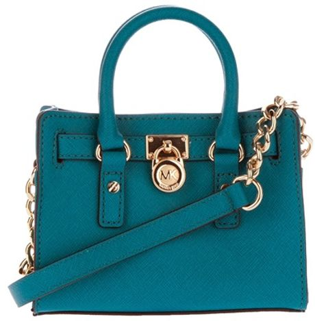 Michael Kors Cobalt Mini Hamilton Bag in Blue (cobalt) - Lyst