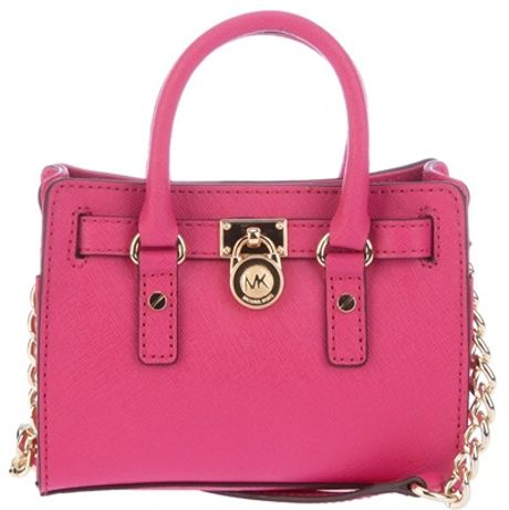 Michael Kors Mini Hamilton Bag in Pink - Lyst