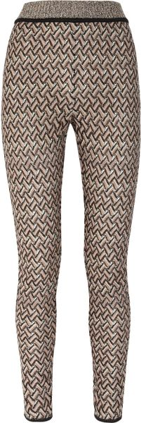 Missoni Crochetknit Skinny Pants in Multicolor (multicolored) - Lyst