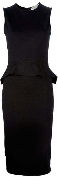 Stella Mccartney Peplum Dress in Black - Lyst