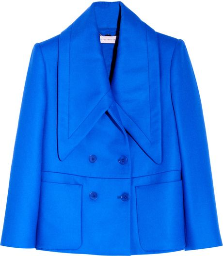 Stella Mccartney Oliver Wool Twill Jacket in Blue (cobalt) - Lyst