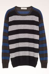 Stella McCartney Patched Stripes Crew Neck Jumper - Lyst