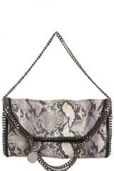 Stella McCartney Falabella Three Chain Faux Python Bag - Lyst