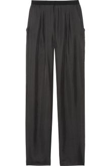 Theyskens' Theory Ping Slubsilk High Rise Wide Leg Pants - Lyst