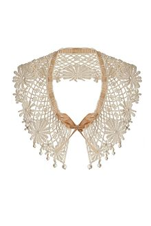 Topshop Pearl and Fabric Collar - Lyst