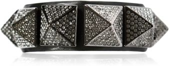 Valentino So Noir Limited Studs Leather Bracelet - Lyst