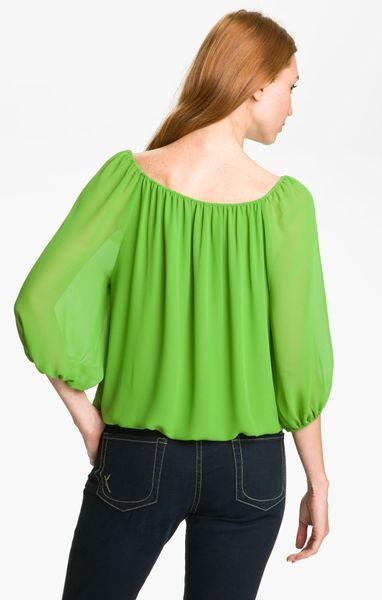 Green Peasant Blouse 30