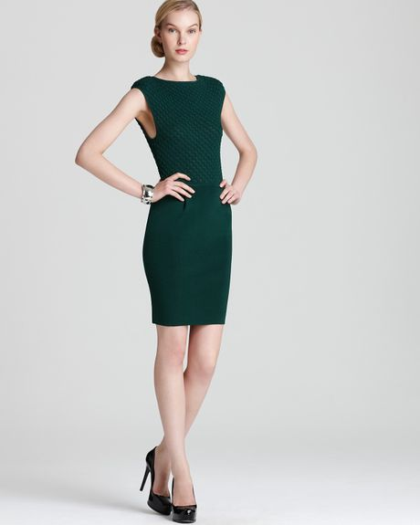 Catherine Malandrino Cap Sleeve Dress in Green (jade) - Lyst