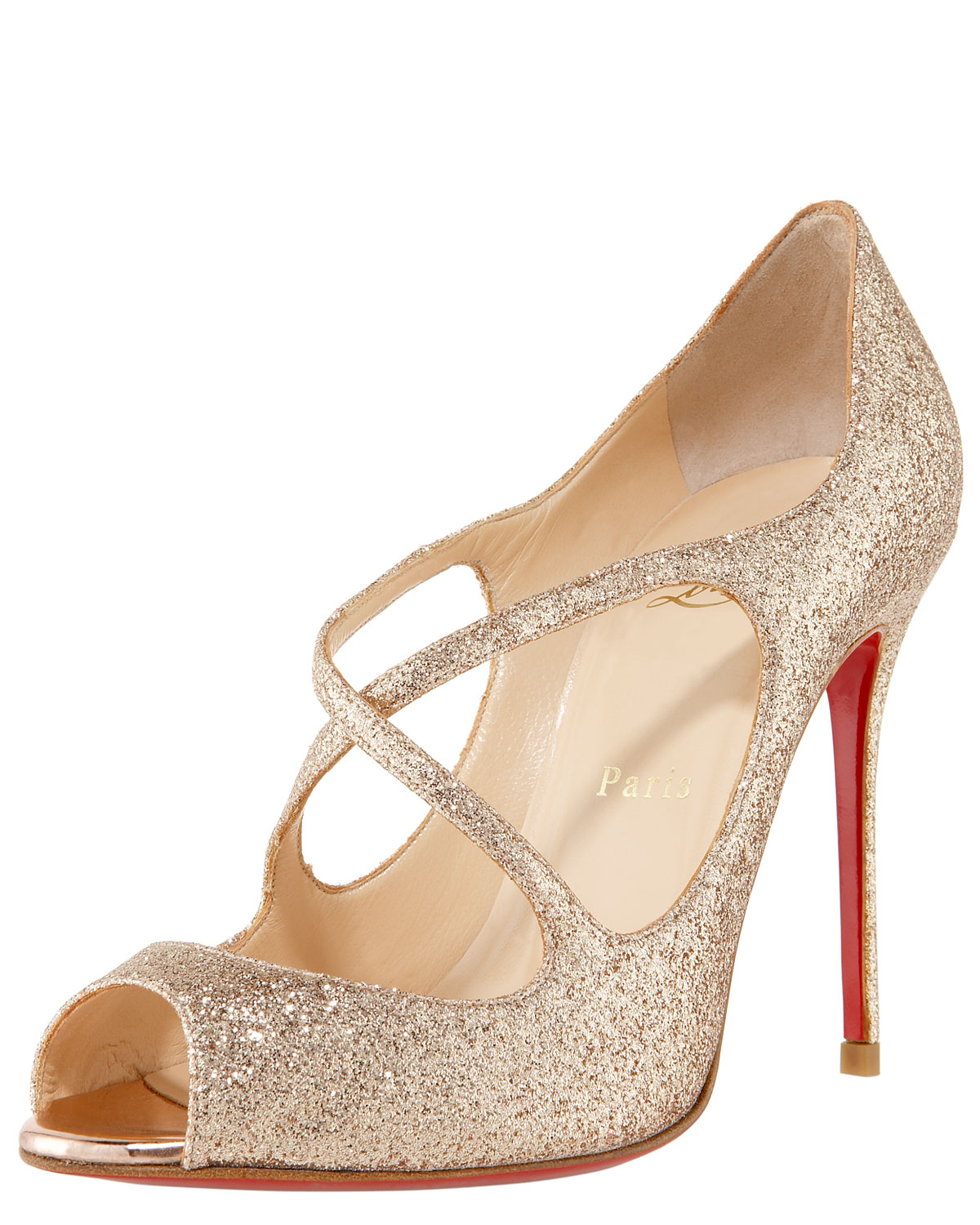official photos 53a98 5efac wholesale gold sparkly christian louboutin shoes 2308b 75ad5