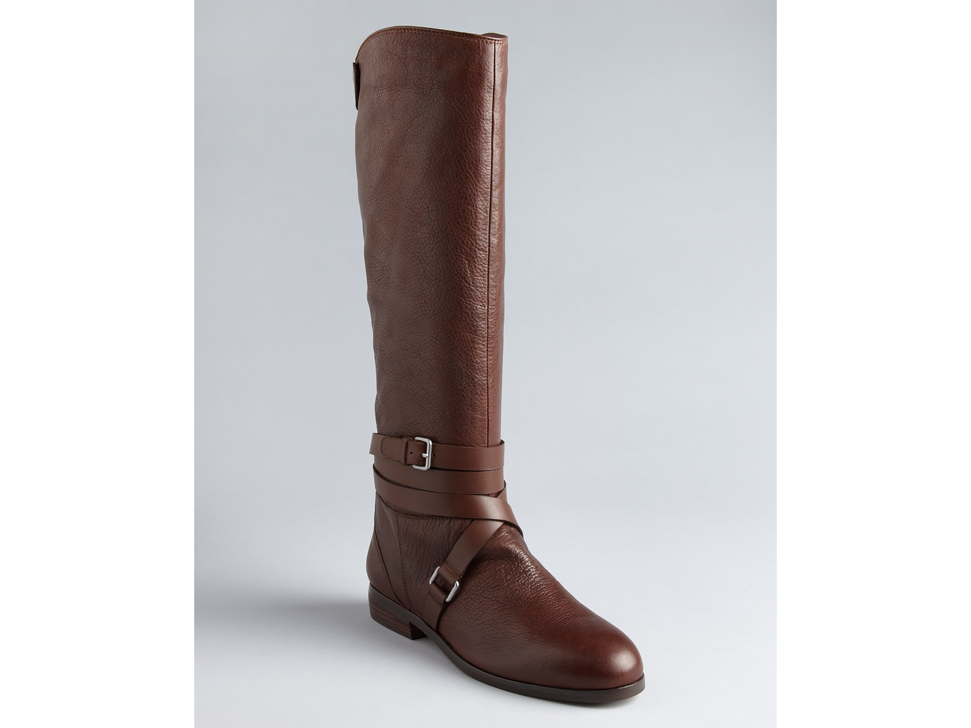 dolce vita flat boots laila ankle wrap in brown