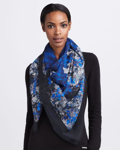 Erdem Pelham Crescent Wool Scarf in Blue (one size) - Lyst