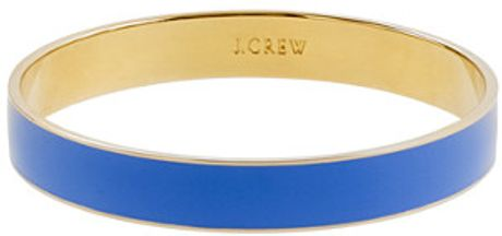 J.crew Classic Medium Bangle in Blue (festival blue) - Lyst
