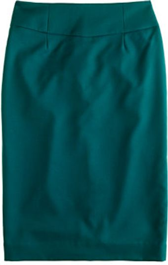 J.Crew Telegraph Pencil Skirt in Super 120s - Lyst