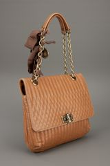 Lanvin Quilted Shoulder Bag in Brown (cognac) - Lyst