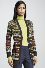 M Missoni Striped Cardigan - Lyst