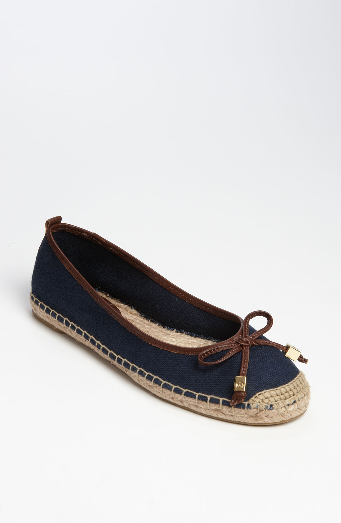 michael michael kors meg espadrille flat in blue navy lyst. Black Bedroom Furniture Sets. Home Design Ideas