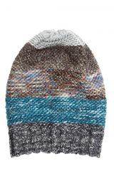 Missoni Blended Wool Knit Hat in Multicolor (multi) - Lyst