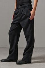 Oak Flannel Pleated Pant Grey - Lyst