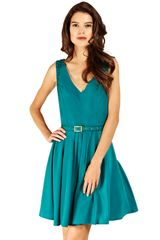 Oasis Oasis Suzie Lace Dress Deep Green in Blue (green) - Lyst