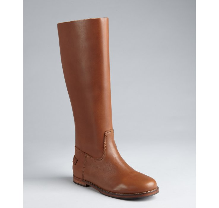 pour la victoire light brown calfskin boots in brown