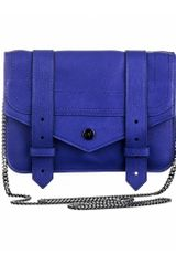 Proenza Schouler Ps1 Large Chain Wallet Leather in Blue (purple+rain) - Lyst