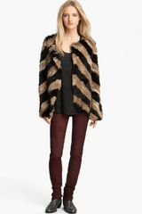 Zadig & Voltaire Lilo Genuine Rabbit Fur Jacket - Lyst