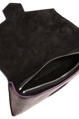 Alexander Wang Ostrich Giant Eyeglass Case Clutch in Purple - Lyst