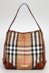 Burberry Check Tote  - Lyst