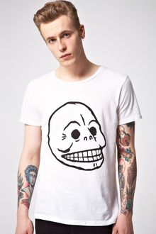 Cheap Monday Bruce Skull Printed Tshirt - Lyst