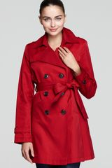DKNY Megan Double Breasted Trench Coat with Belt - Lyst