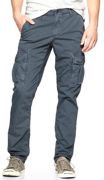 Gap Denimwashed Cargo Pants Slim Fit in Blue for Men (dark ...