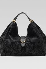 Gucci Soft Stirrup Brocade Shoulder Bag Large - Lyst
