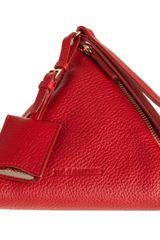 Jil Sander Square Evening Wristlet in Red (gold) - Lyst