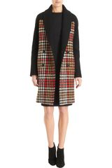 Martin Grant Double Breasted Houndstooth Coat - Lyst