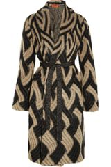 Missoni Patterned Mohair Blend Cardi Coat