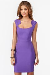 Nasty Gal Jagged Edges Dress in Purple (violet) - Lyst